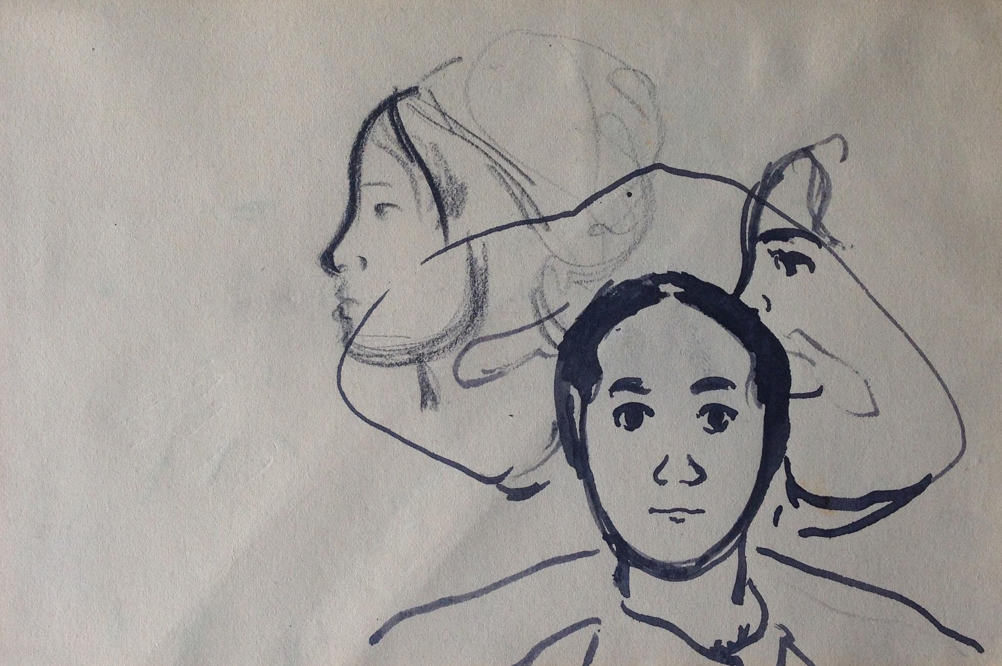 Cuno Amiet, Bretonisches Mädchen, Zeichnung, undatiert