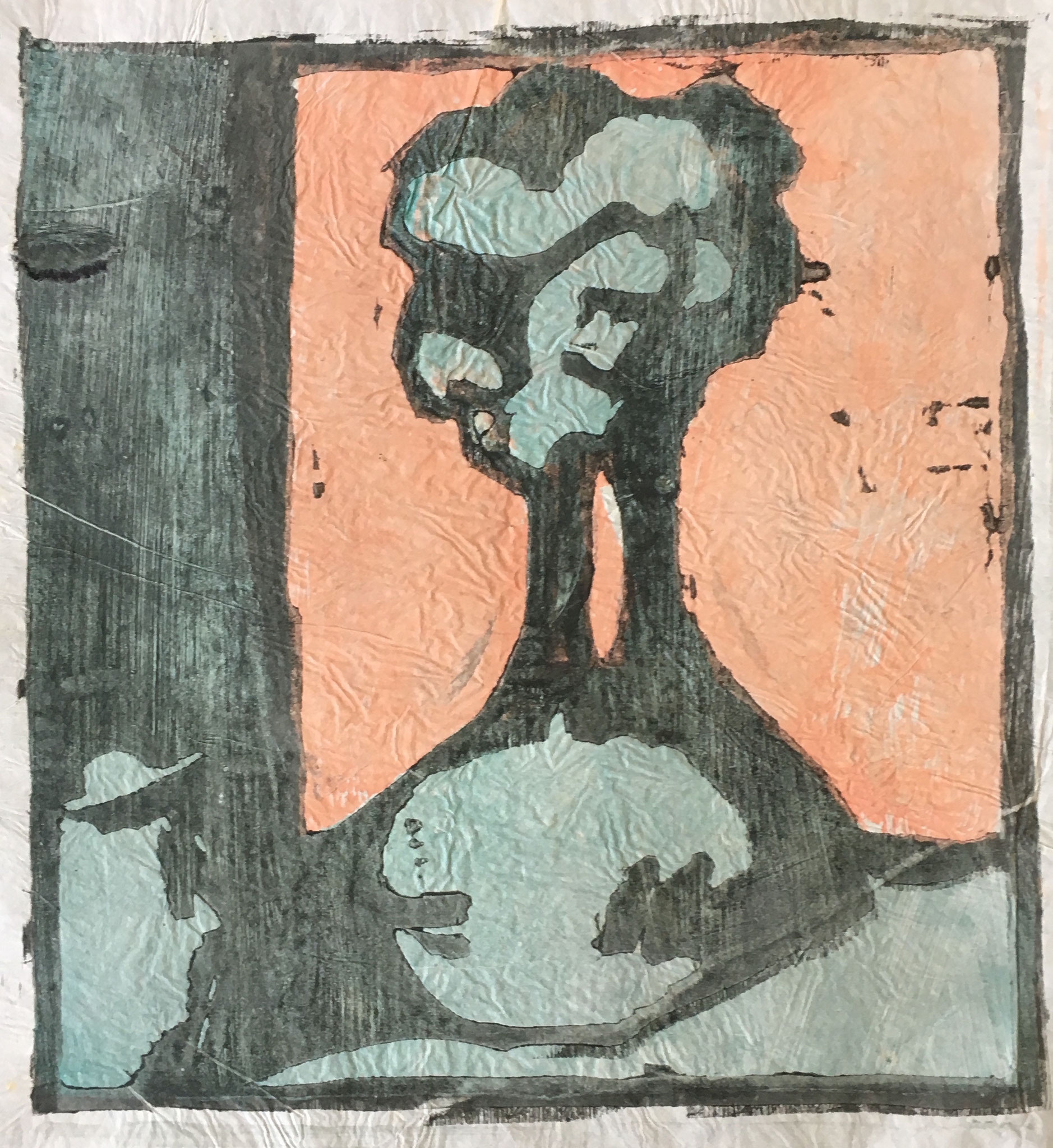 Cuno Amiet, Vase with Flowers, Japanese paper, woodcut, 1908