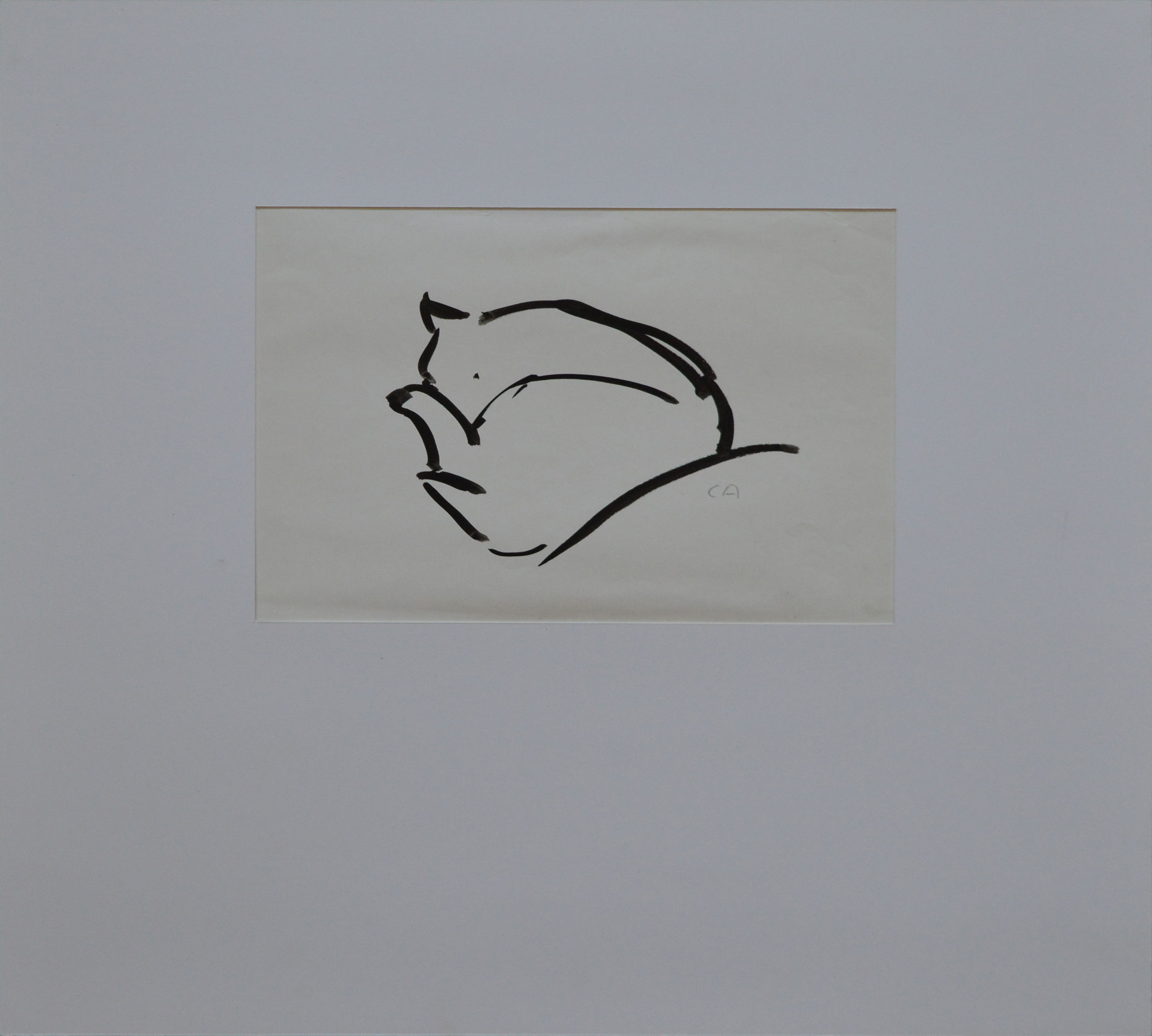 Cuno Amiet, Cat, pen and ink, undated