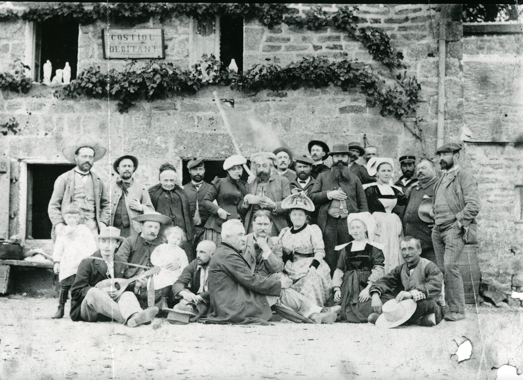 Amiet with artist friends in Pont Aven, 1892 (front row, third from the left)