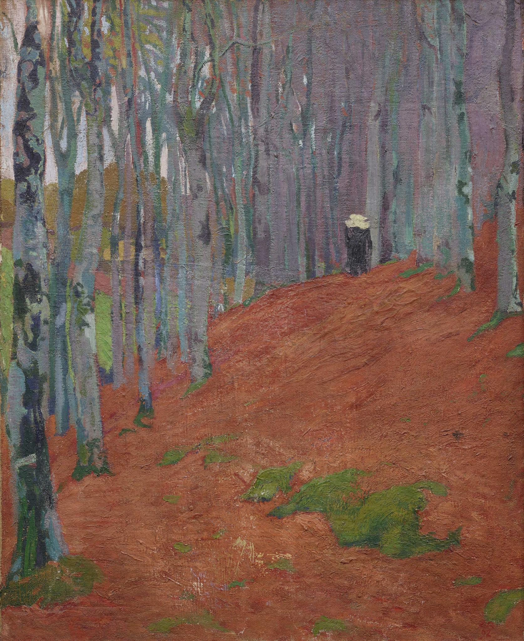 Cuno Amiet, Le Bois d'amour (Bretonische Landschaft), 1892