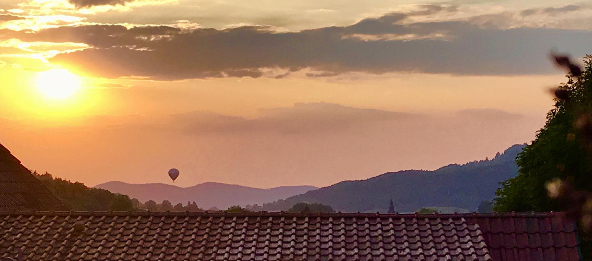 Blick vom Balkon zum Staffelberg