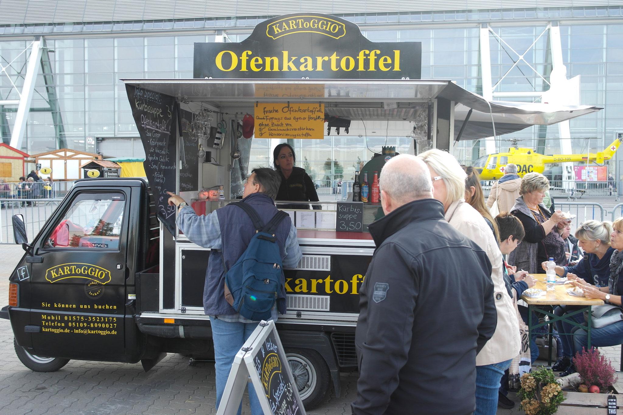 shoppen macht bekanntlich auch bei der infa in Hannover hungrig