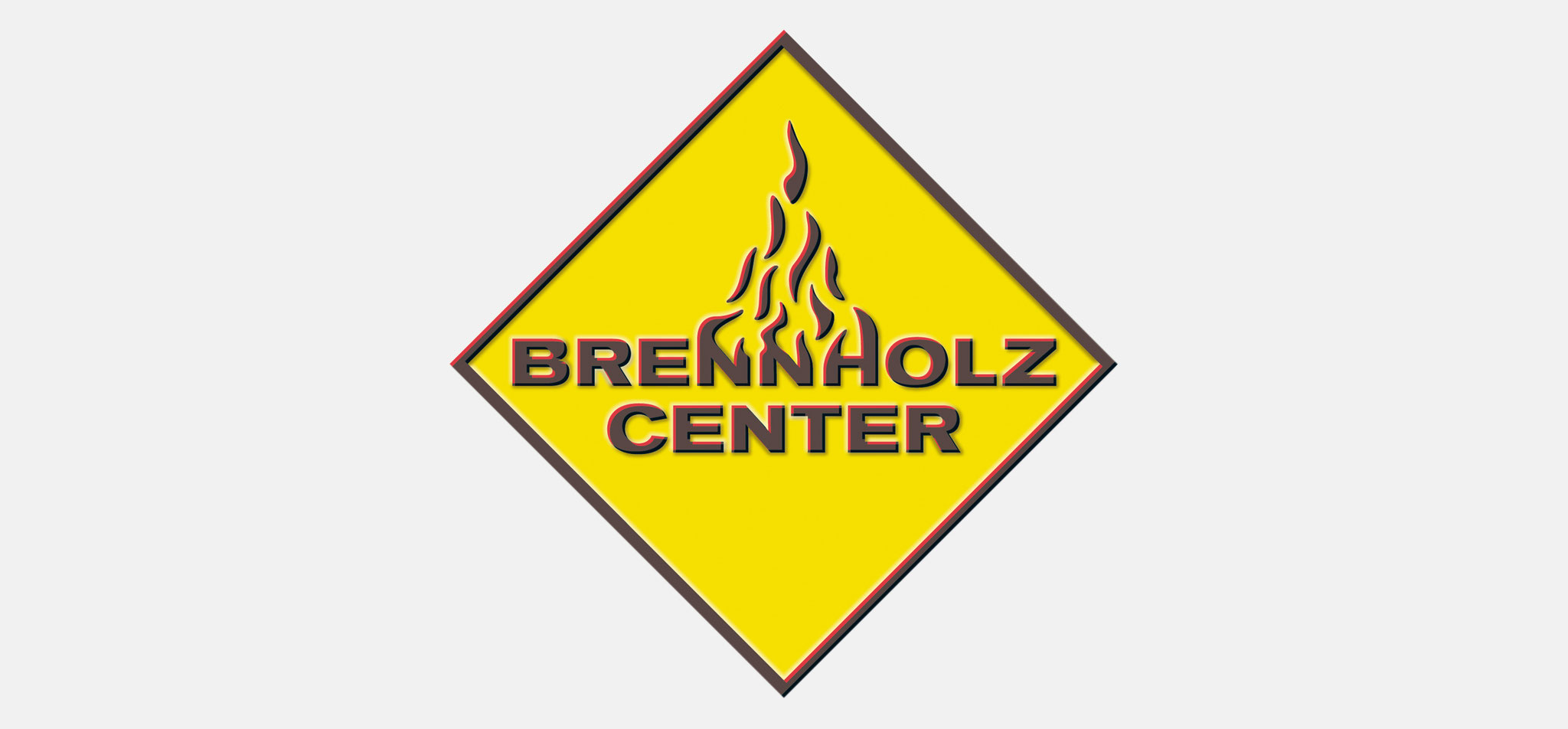 BRENNHOLZCENTER | logo bhc, 3D – infragrau, gute gestaltung