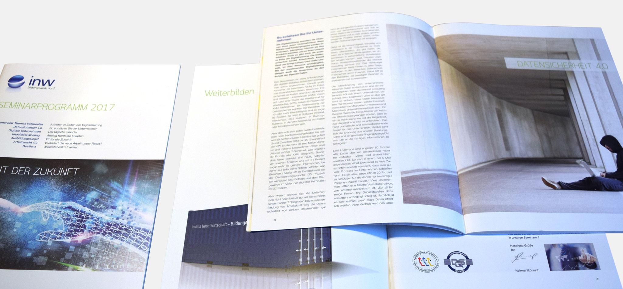 INW | seminarbroschüre – infragrau, gute gestaltung