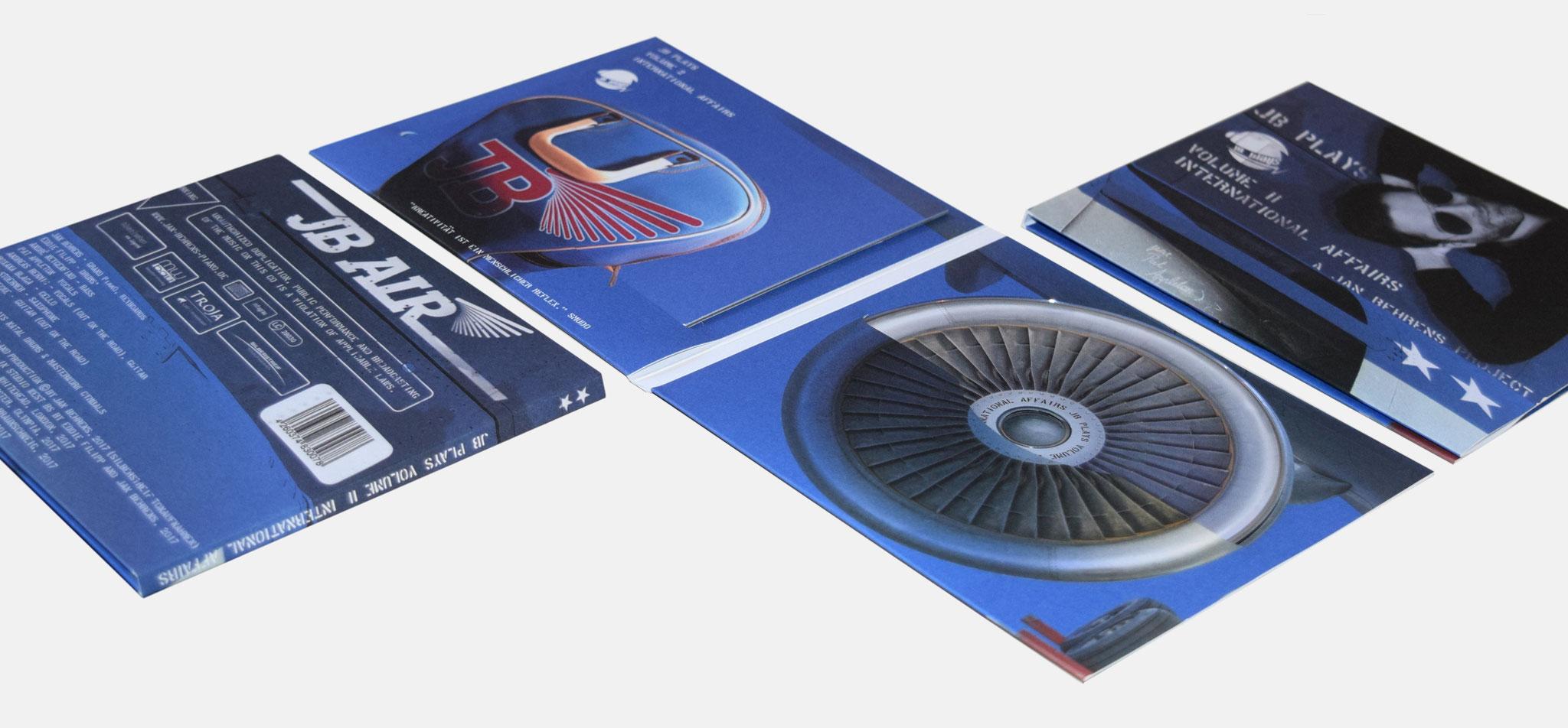 Jan Behrens, Projekt JB plays II | CD-Cover & Booklet JB plays II - infragrau, gute Gestaltung