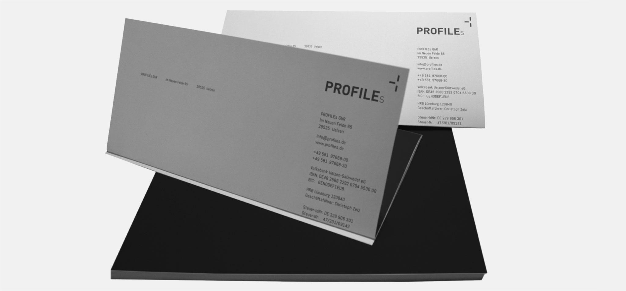 PROFILEs | logo und corporate design – infragrau, gute Gestaltung