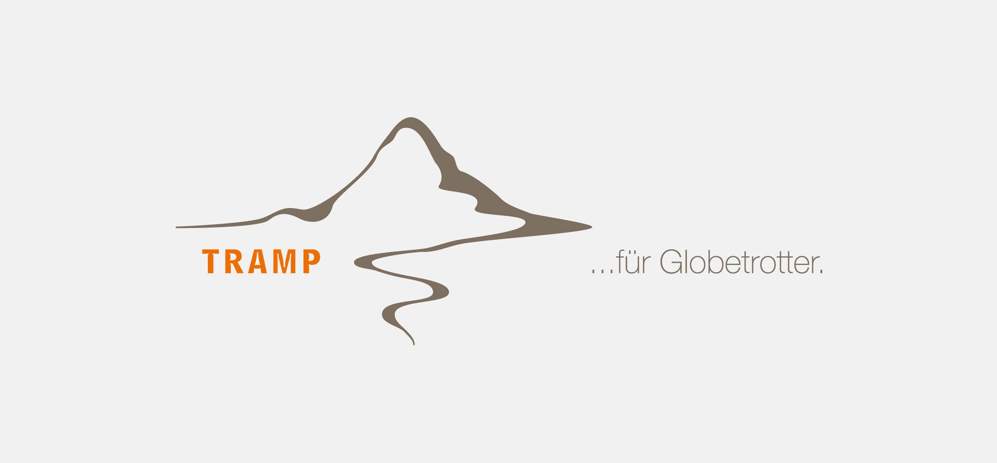TRAMP FÜR GLOBETROTTER | logo – infragrau, gute gestaltung