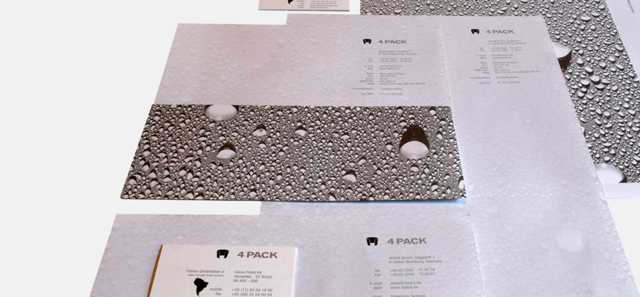 4PACK | logo und geschäftsausstattung – infragrau, gute gestaltung