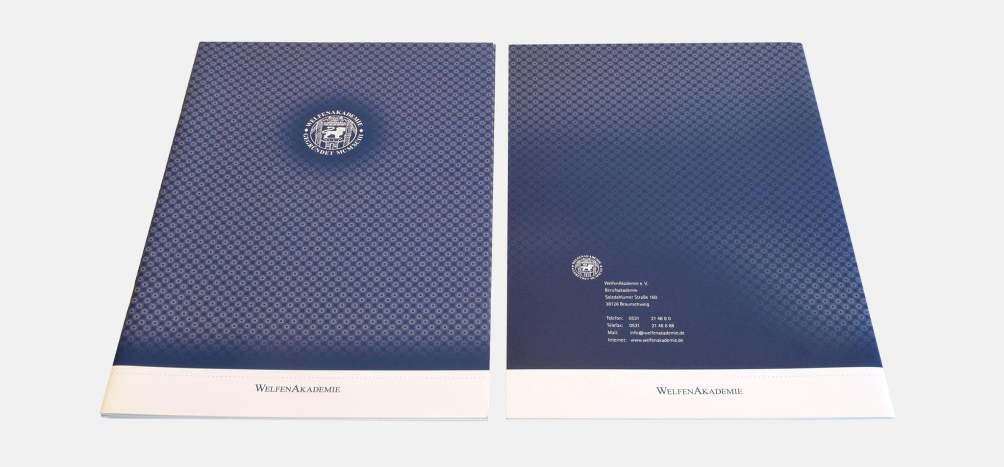WELFENAKADEMIE | corporate design – infragrau, gute gestaltung