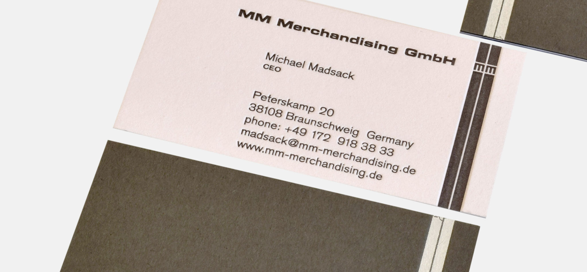 MICHAEL MADSACK MERCHANDISING | visitenkarte – infragrau, gute gestaltung