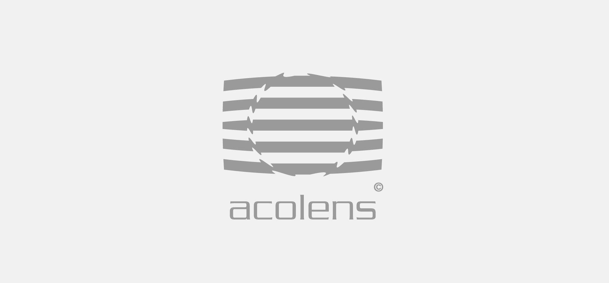 NURIZON | produktlogo acolens – infragrau, gute gestaltung