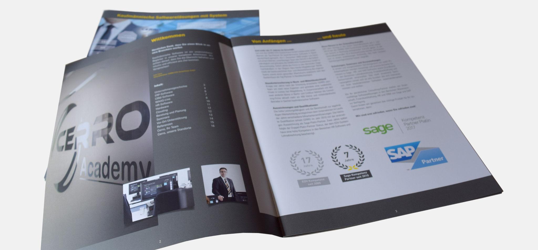 CERRO | Unternehmensbroschüre – infragrau, gute gestaltung
