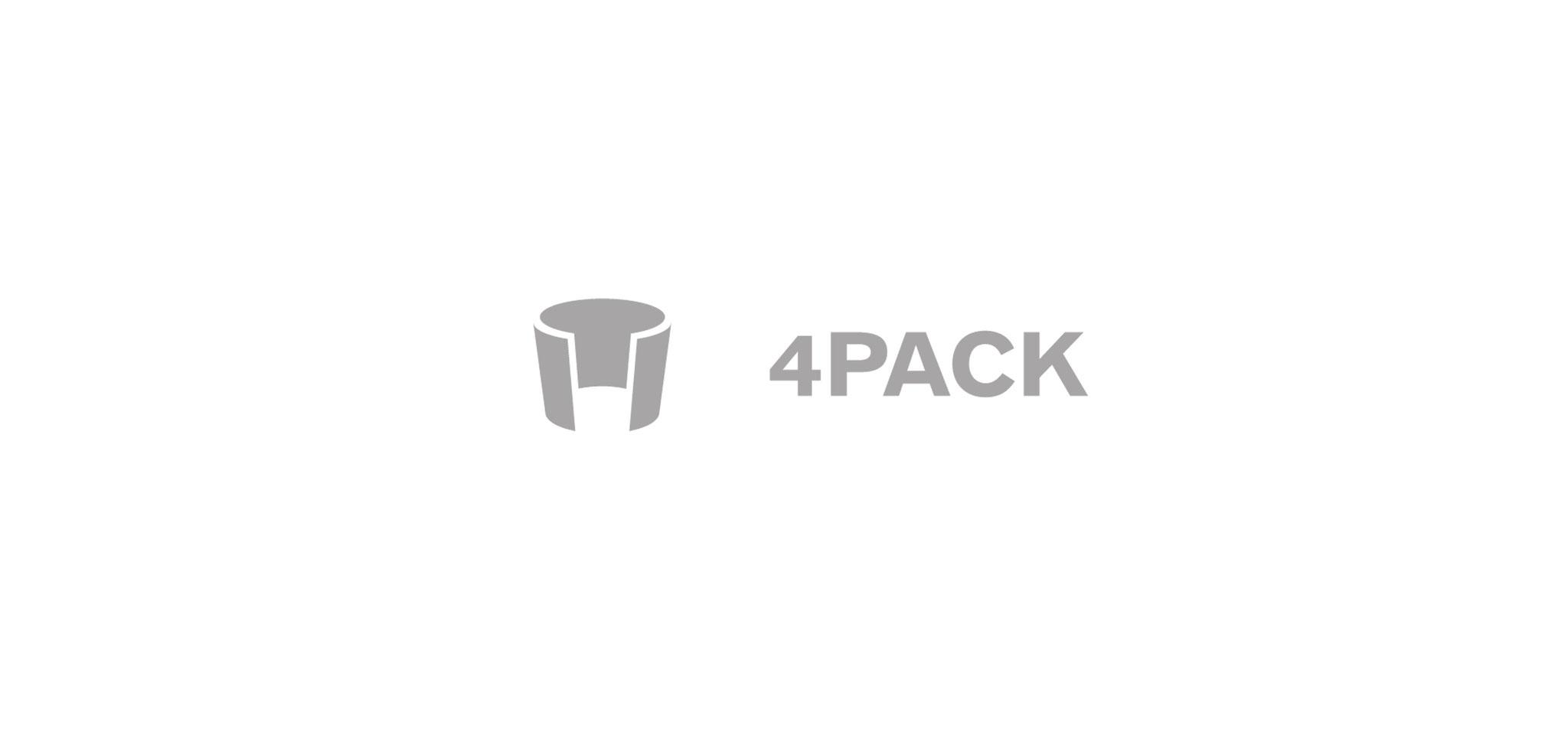 4PACK | logo – infragrau, gute gestaltung