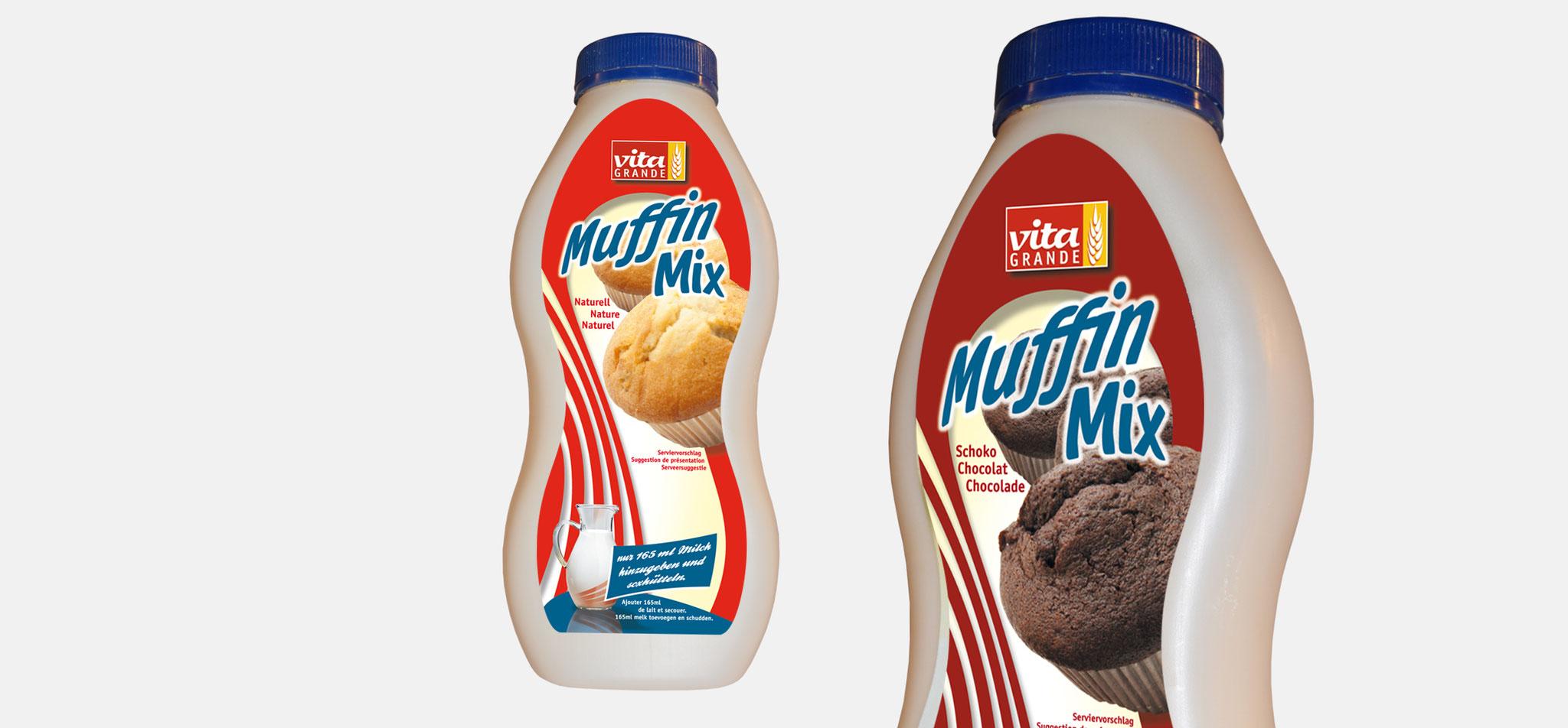 FLECHTORFER MÜHLE | produktlabel s&s muffin mix – infragrau, gute gestaltung