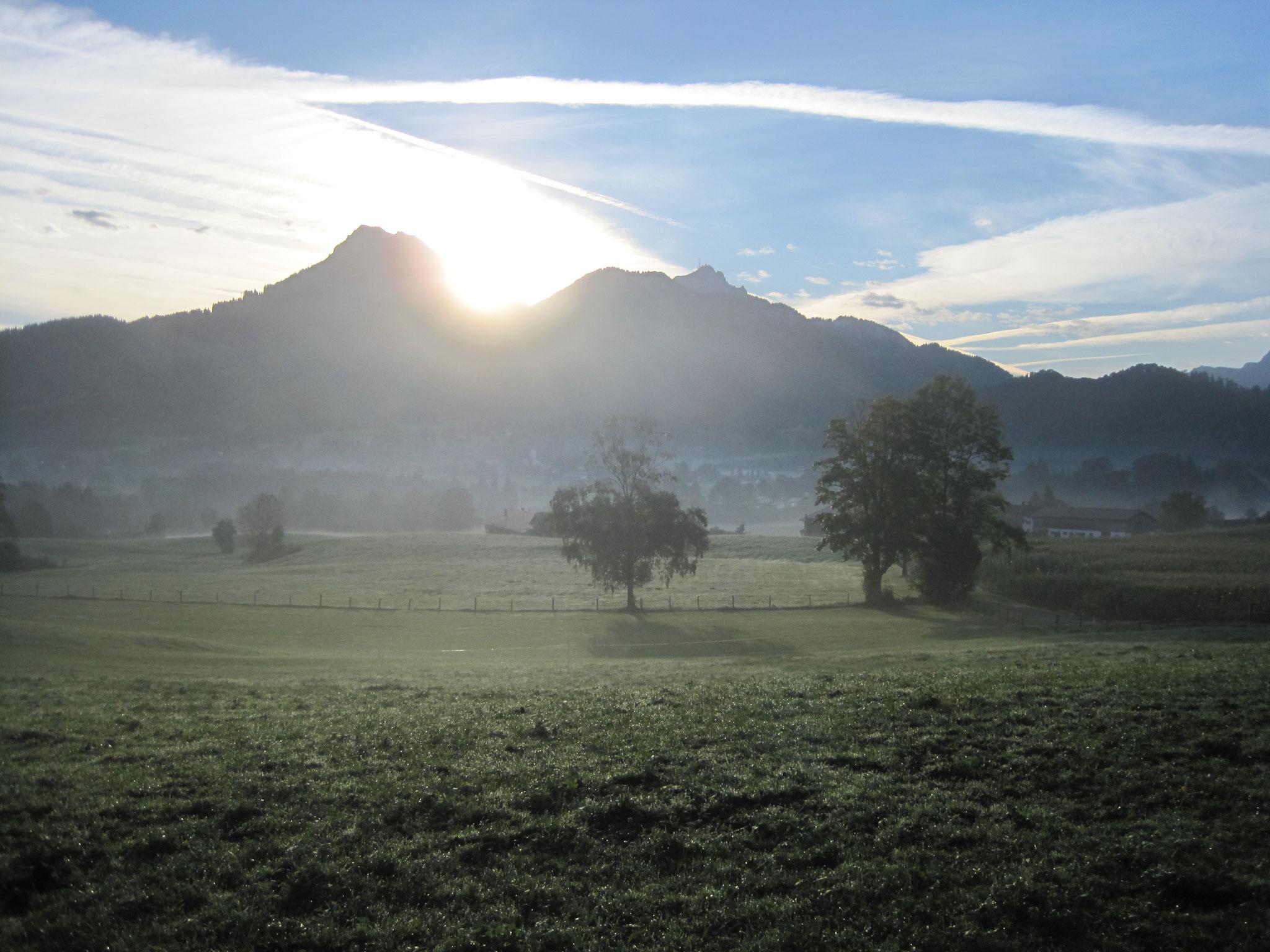Gruberhof Fischbachau - Die Sonne geht auf