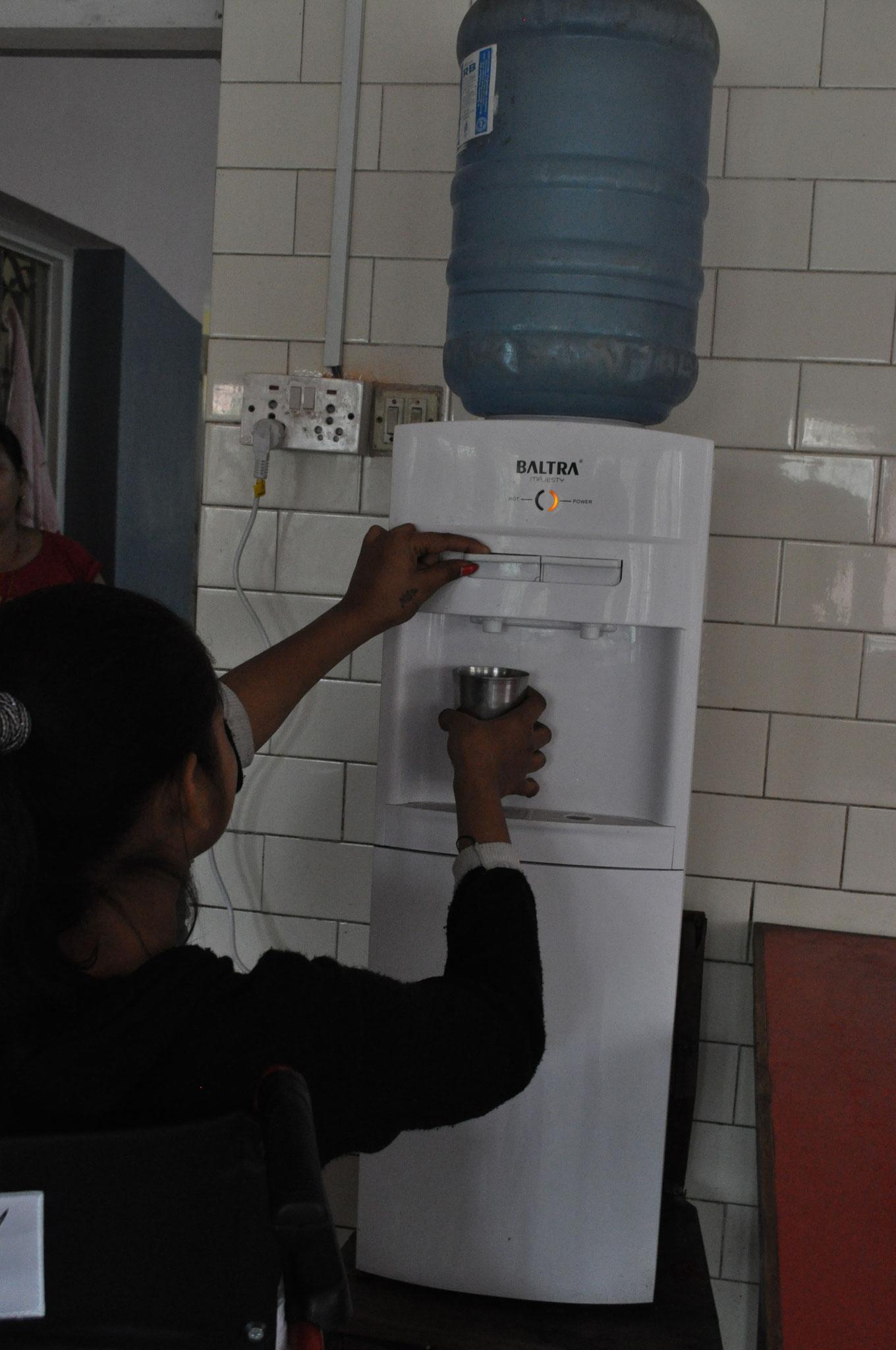 Der Trinkwasserspender für die Bewohner