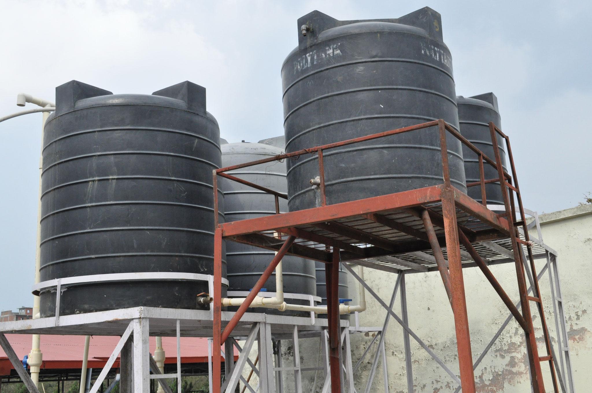 Der neue zentrale Wasserspeicher