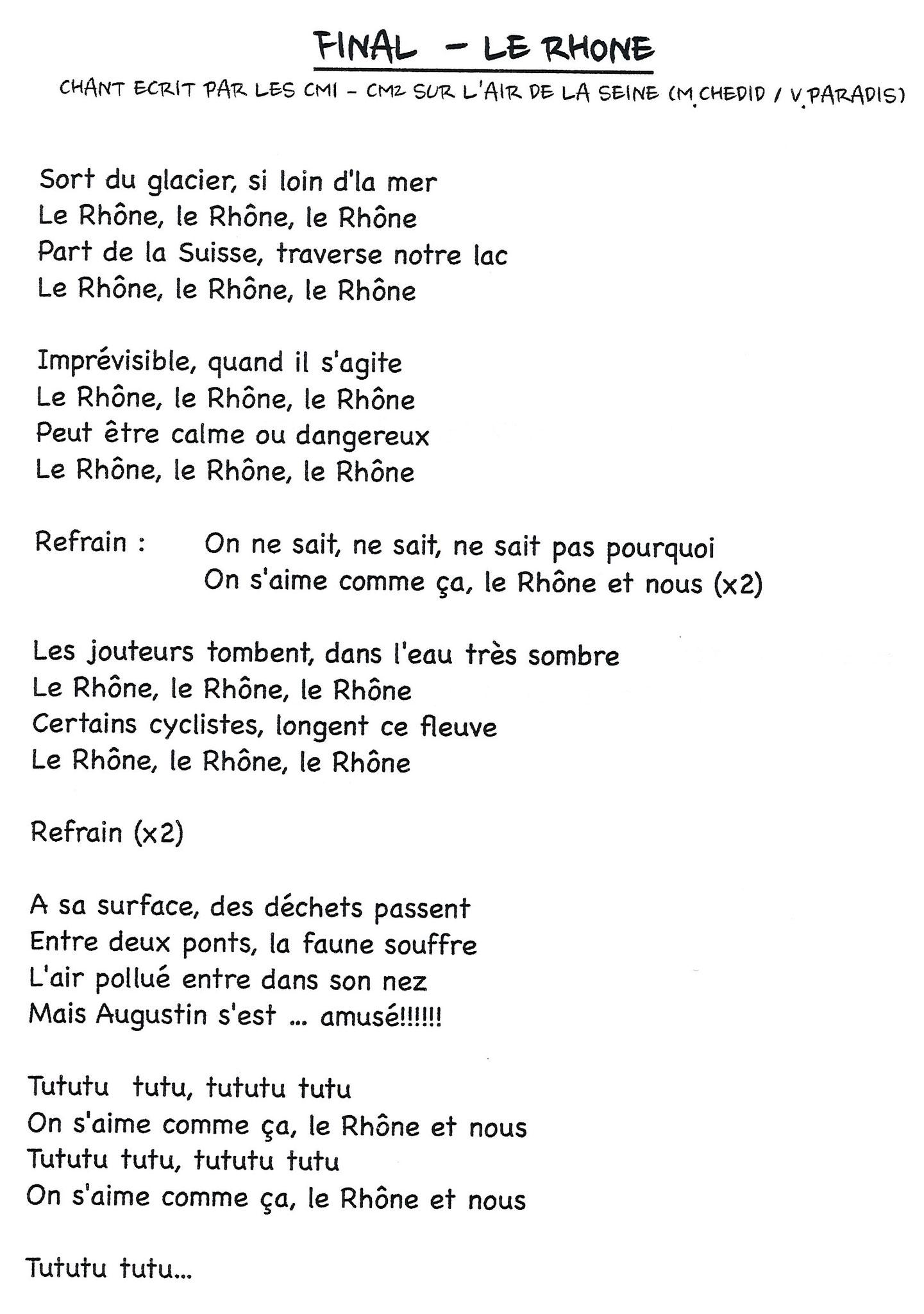Le Rhône, le Rhône, le Rhône