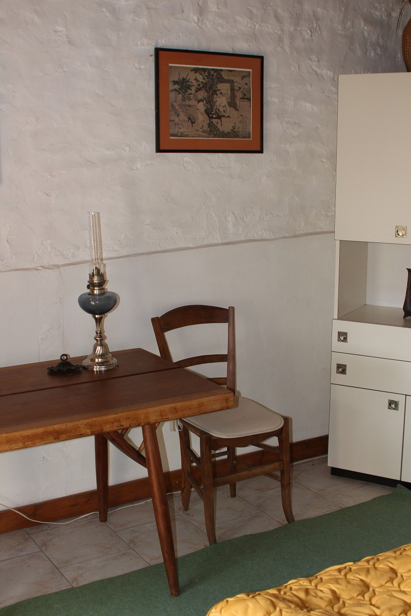 On the ground floor, bedroom n ° 2, with one bed, view on the work corner