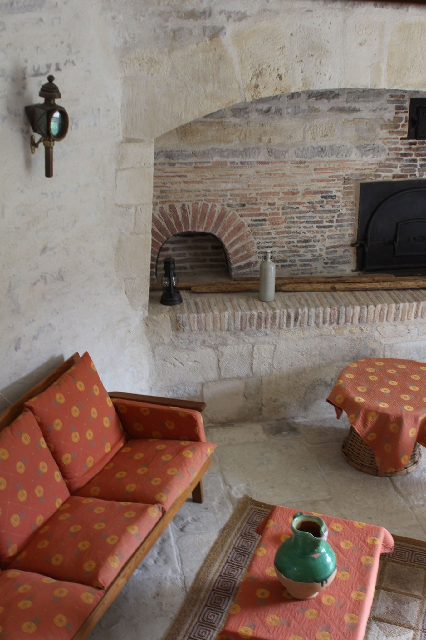 In the tower, the living room, sitting area, on the ground floor