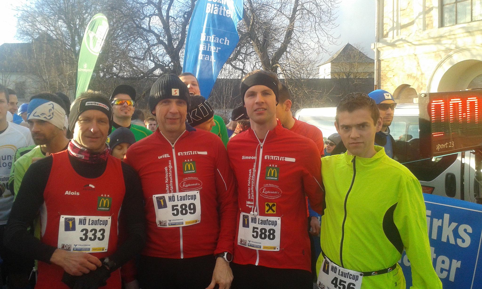 Toller Lauf unserer Athleten Alois, Wolfgang, Simeon, Martin