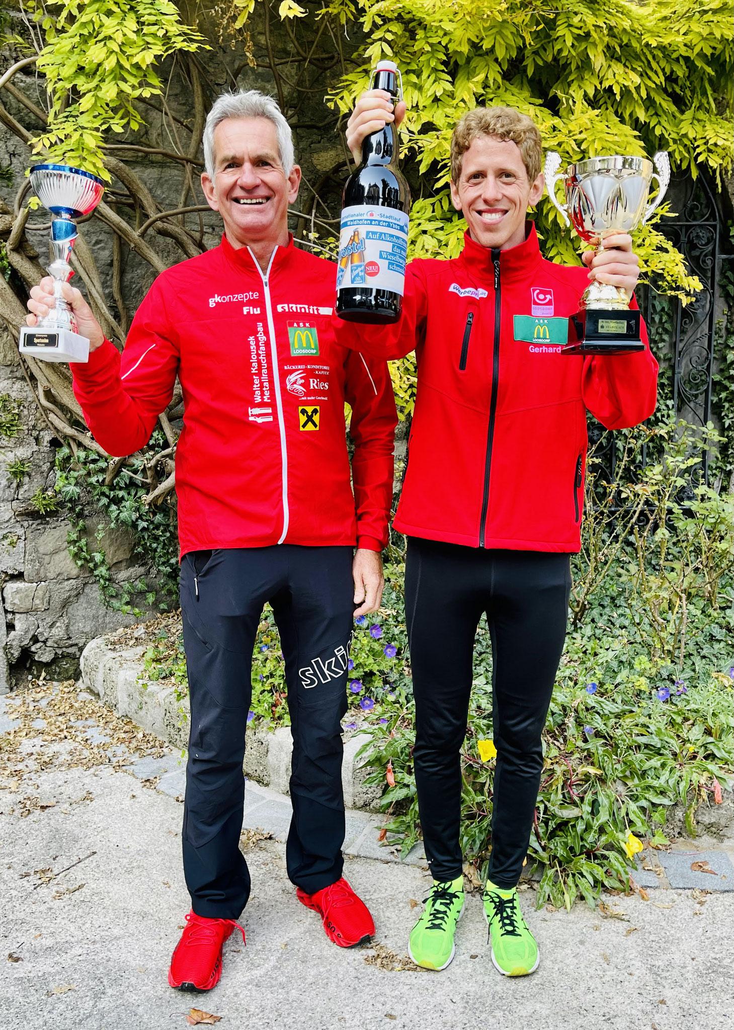 Gesamt Dritter Gerhard mit Ernst, der holt den zweiten Platz in AK60!