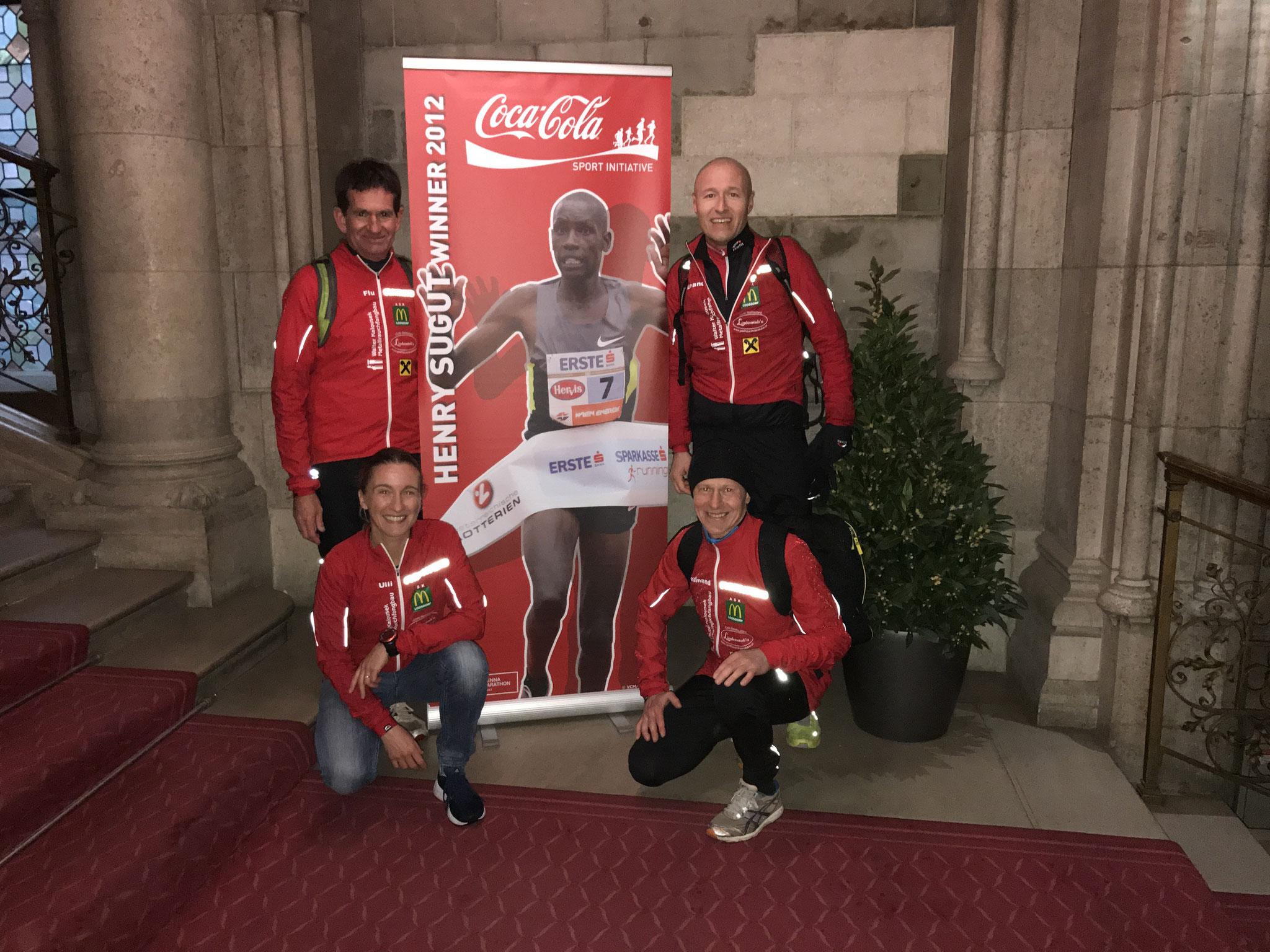Ein toller Rahmen der Vienna City Marathon, inkl. Feier im Festsaal des Rathauses