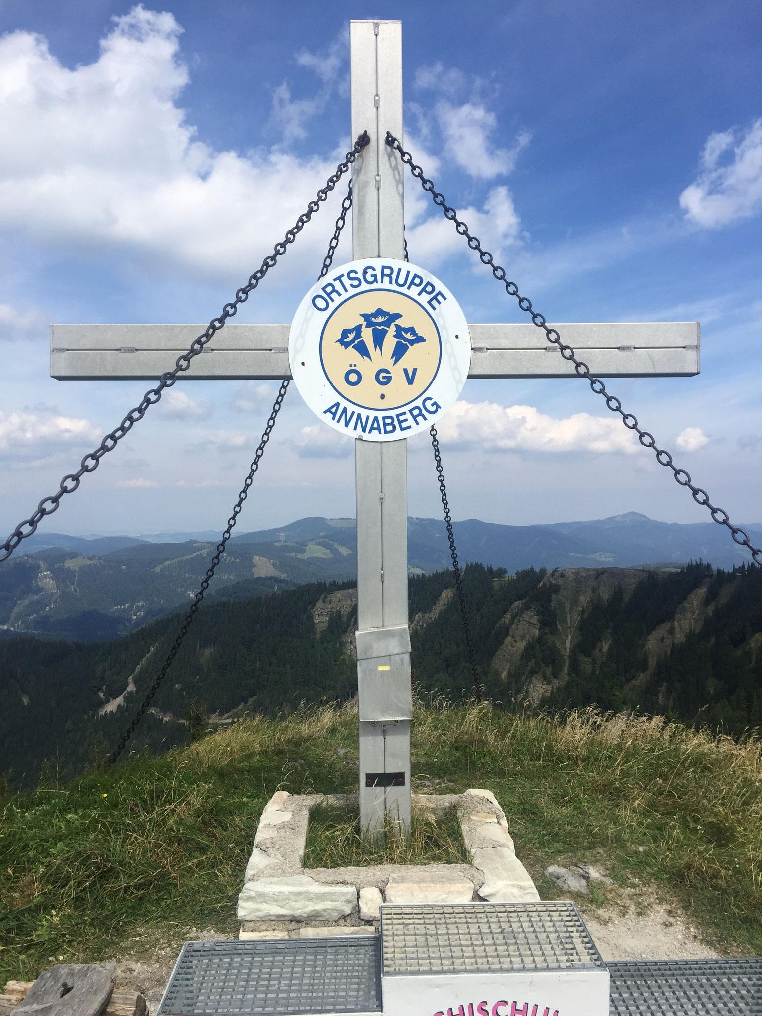 Das Ziel des Laufs: Tiroler Kogel (1.360 m)