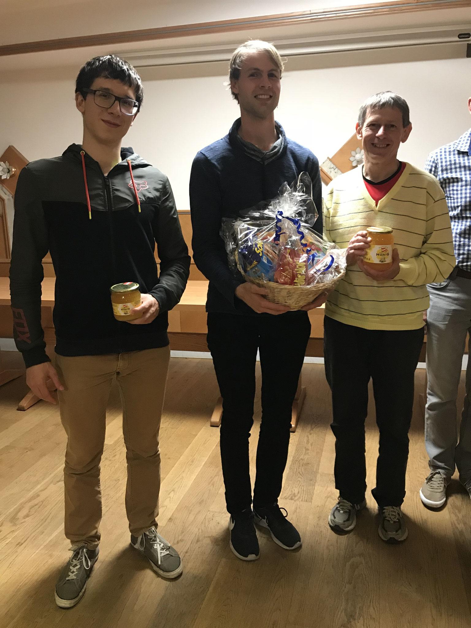 Unsere schnellen Herren vlnr: Michael (3.), Simeon (1.), Ferdinand (2.)