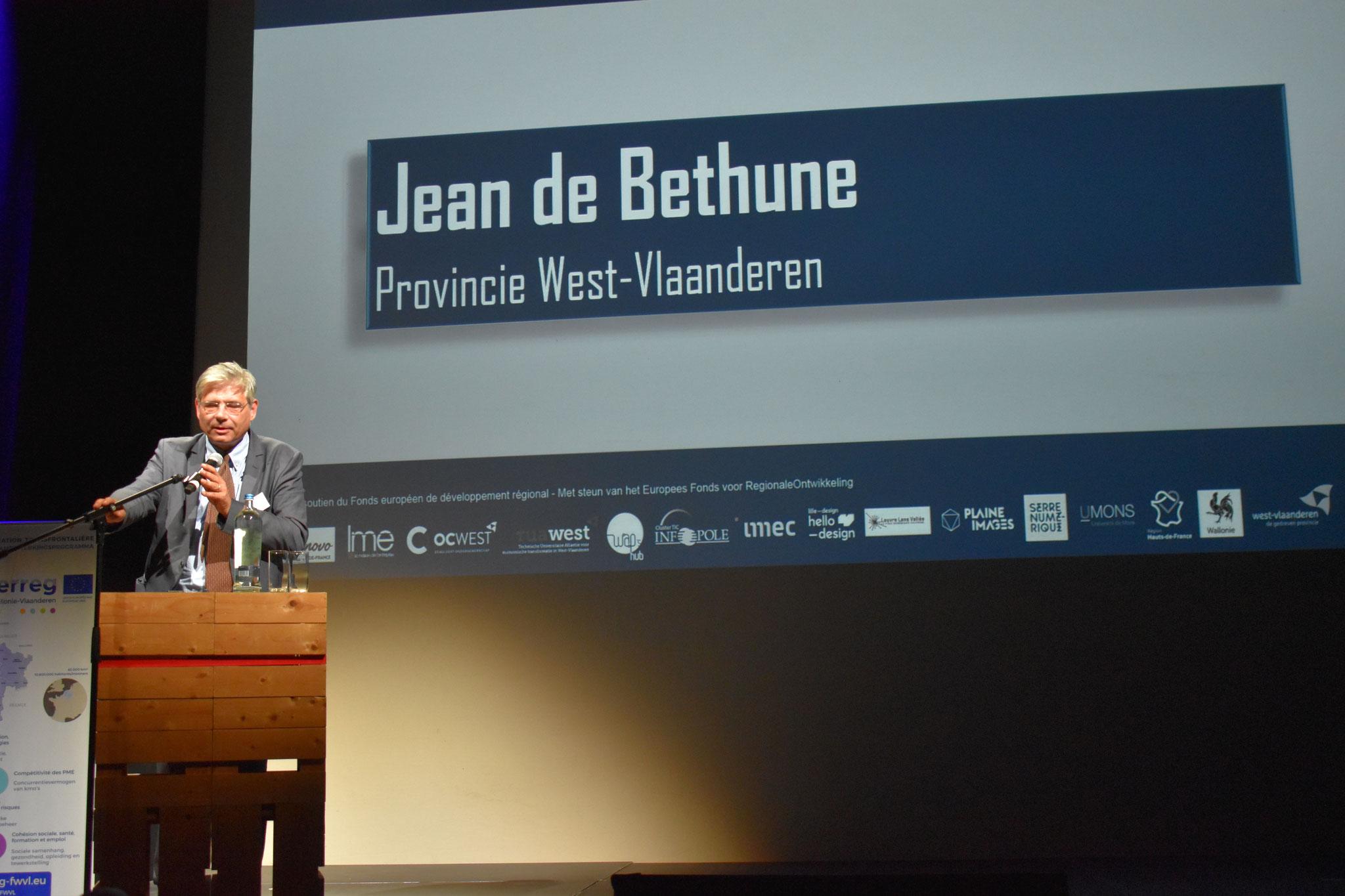 Slotwoord door gedeputeerde Jean de Bethune