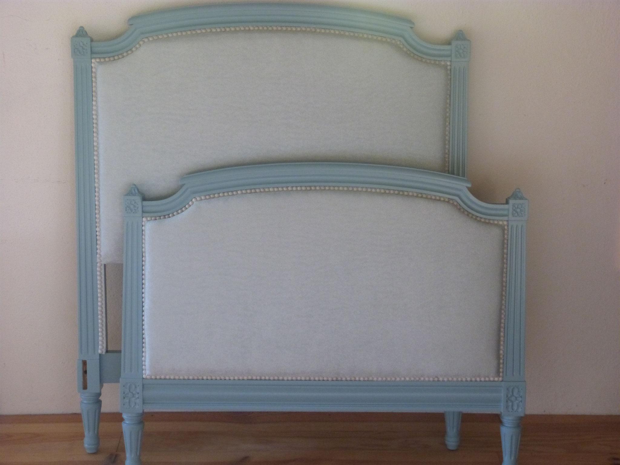 Tête et pied de lit Louis XVI