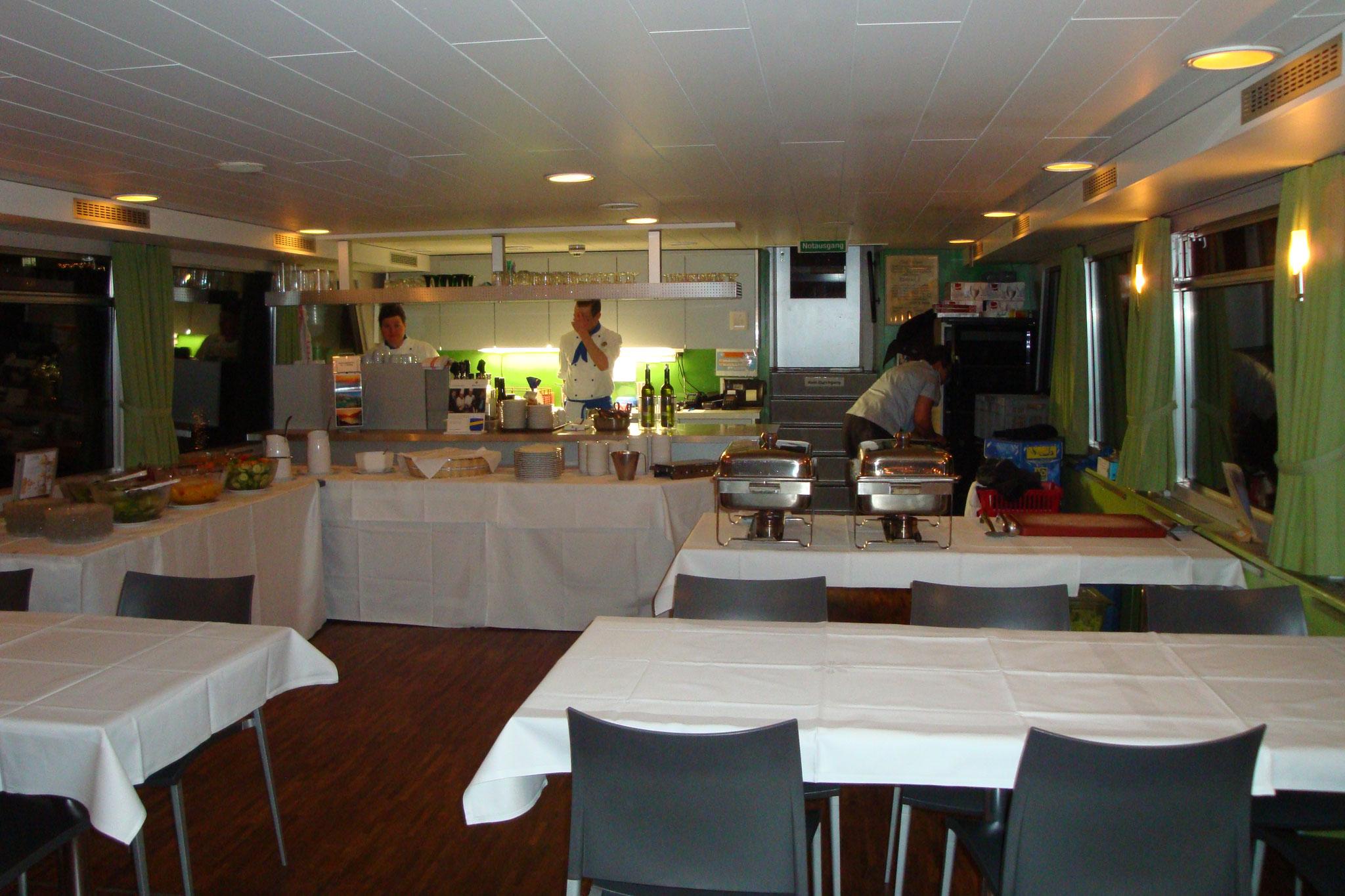 Die Küche ist gut vorbereitet...