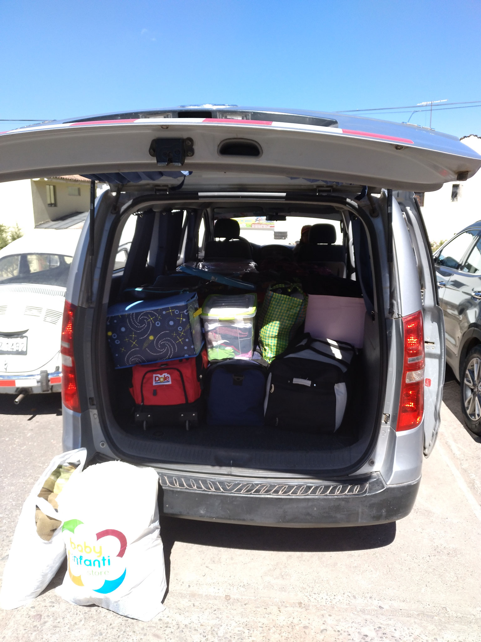 Beim Umzug bekamen wir Unterstützung von Josué, einem befreundeten Taxifahrer aus Cusco.
