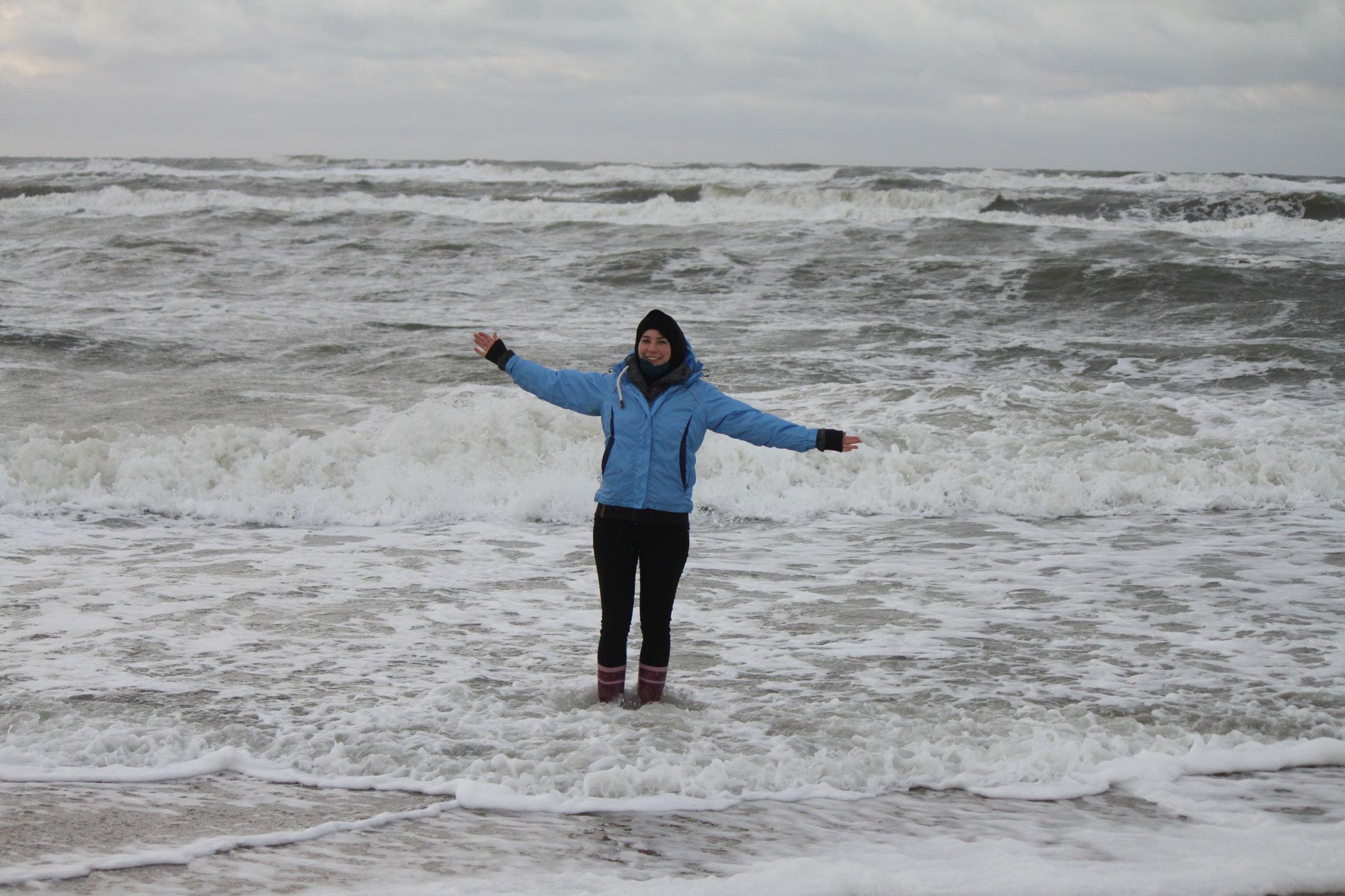 ...in die Nordsee.