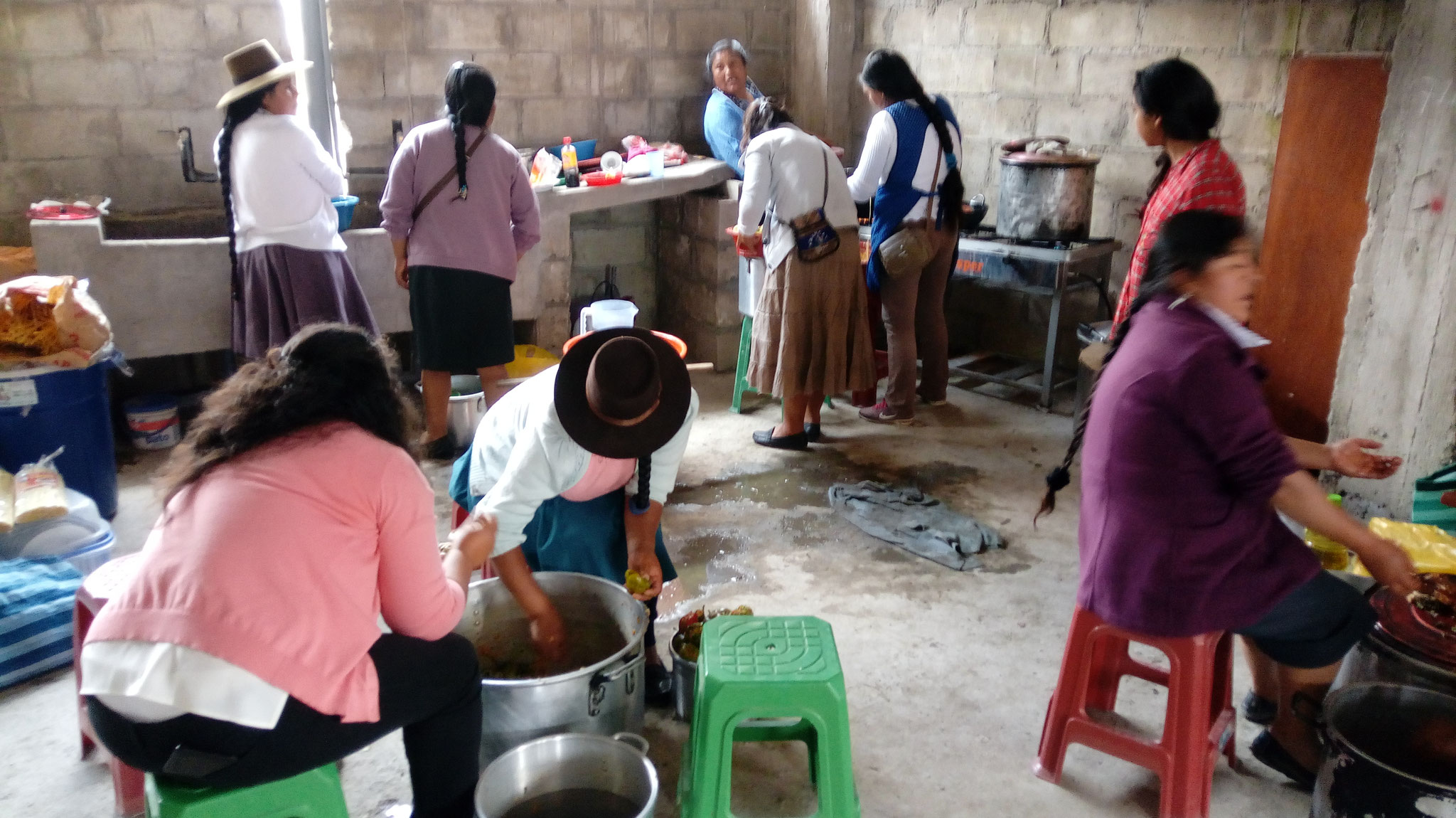 Essen beim Gemeindefest