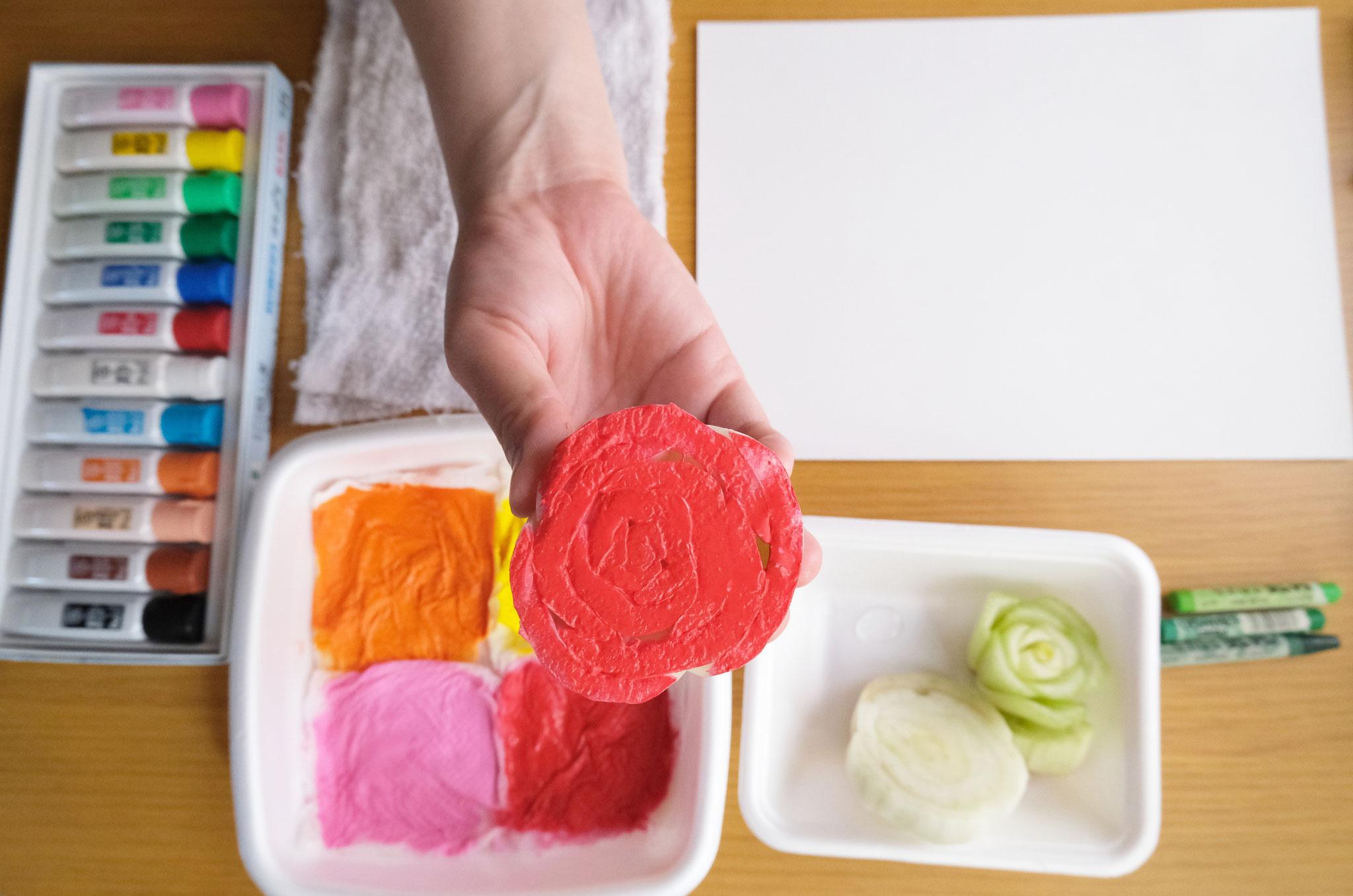 (3)まんべんなく色がついたら