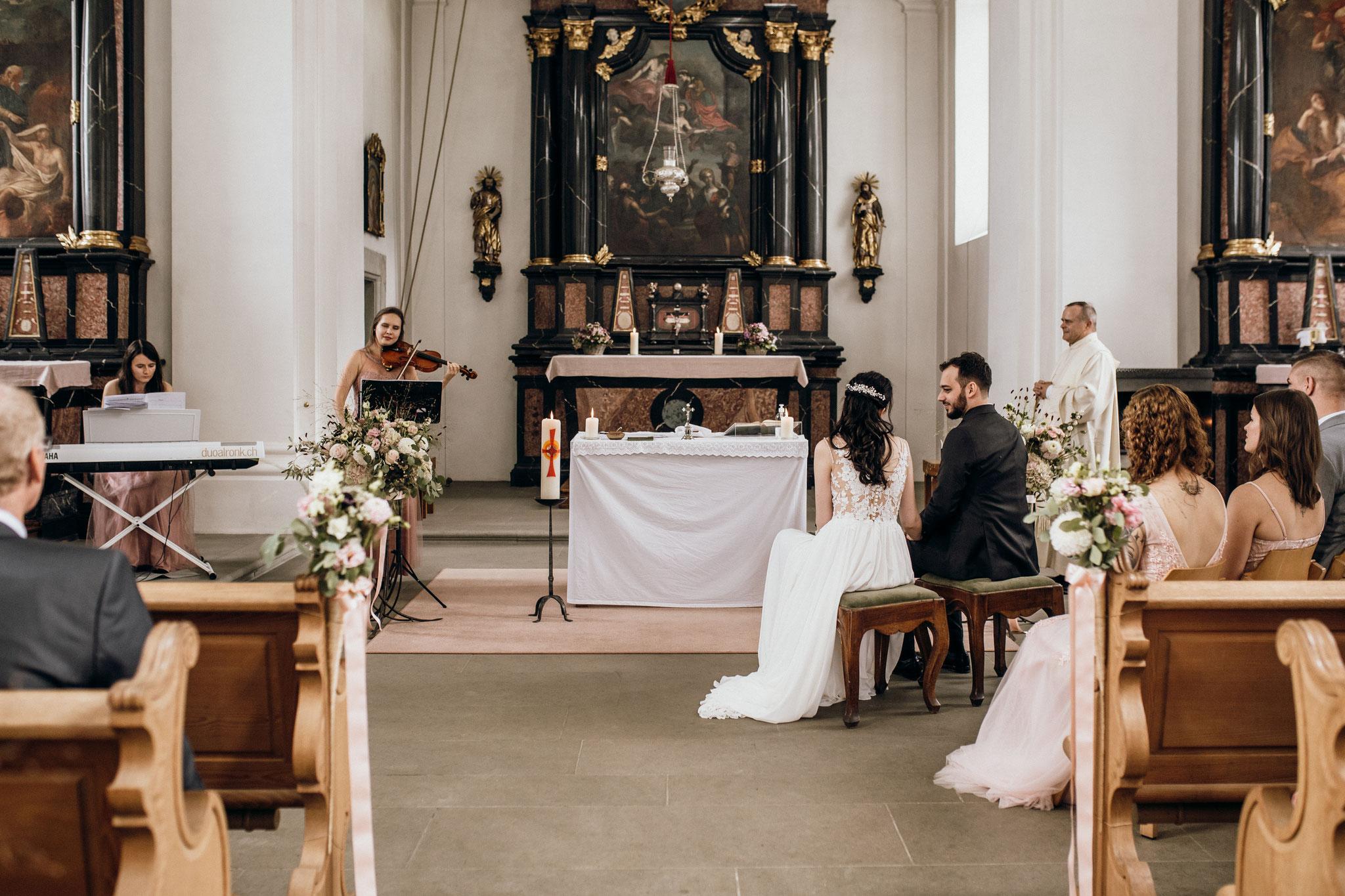 Trauung in der Kapelle St. Verena