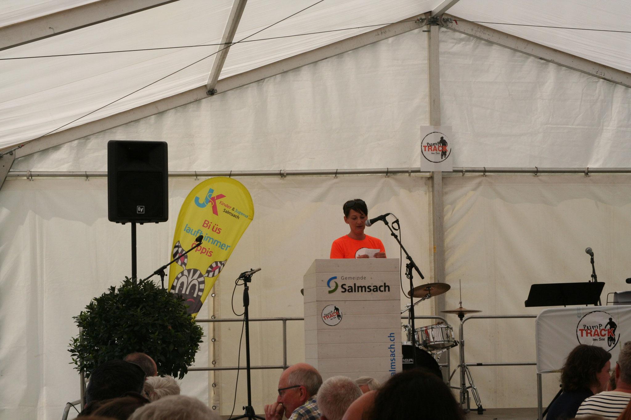 Projektgruppe Pumptrack am See, Salmsach, Eröffnungsfeier