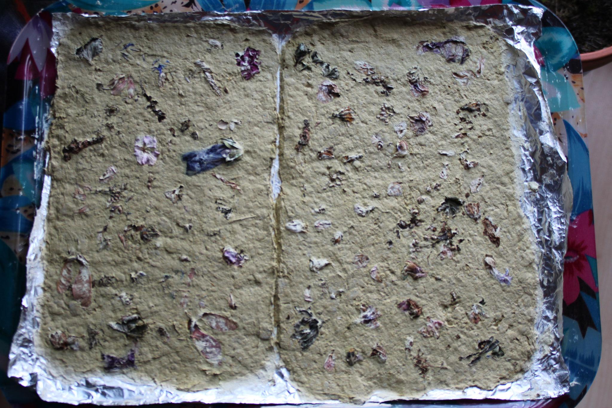 Papier mit Blüteneinschlüssen, 2017