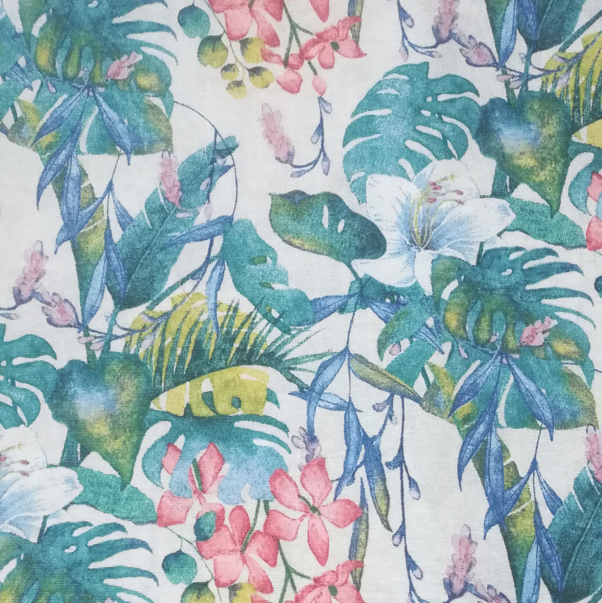 Blue jungle (tissu épais)