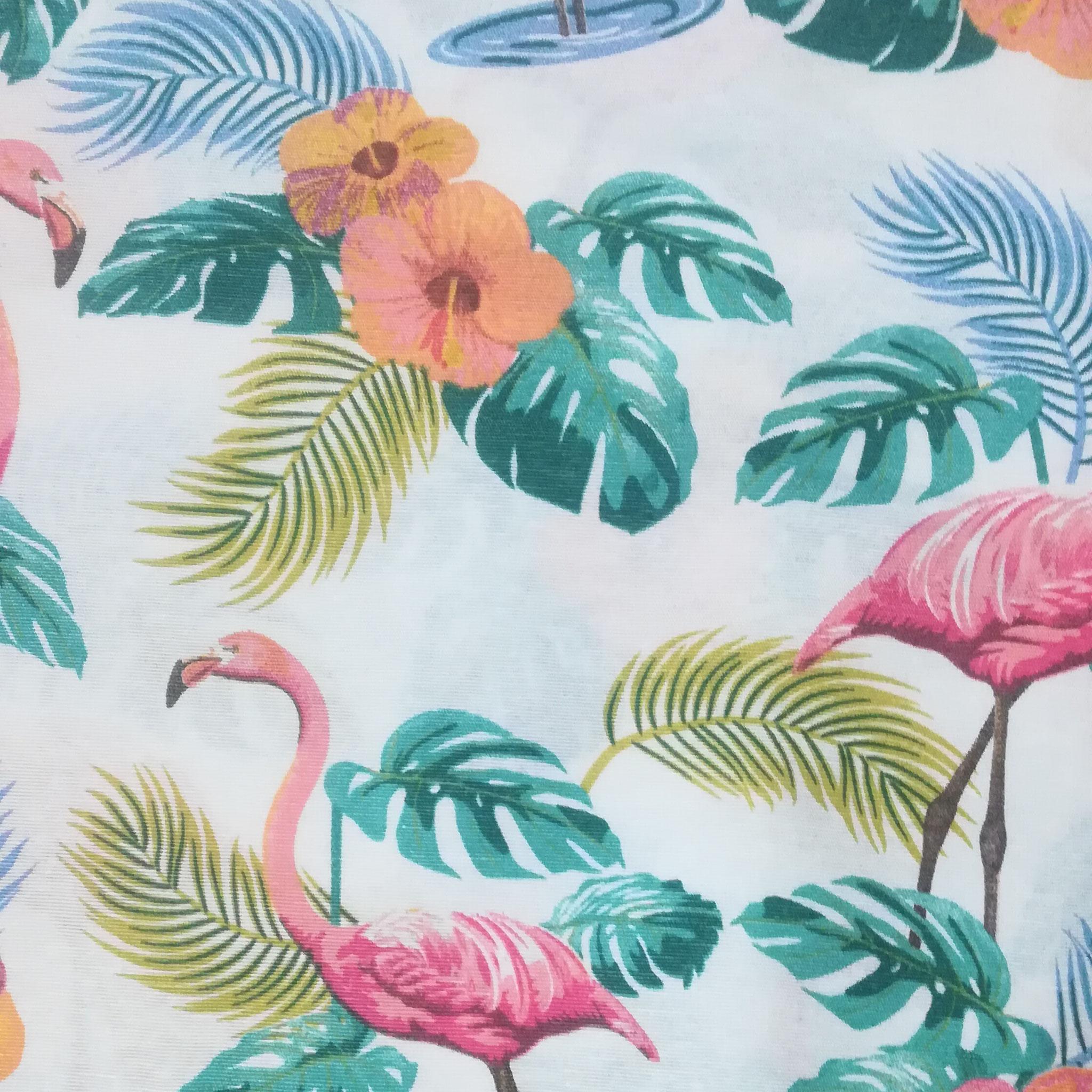 Tropical flamingos (tissu épais)