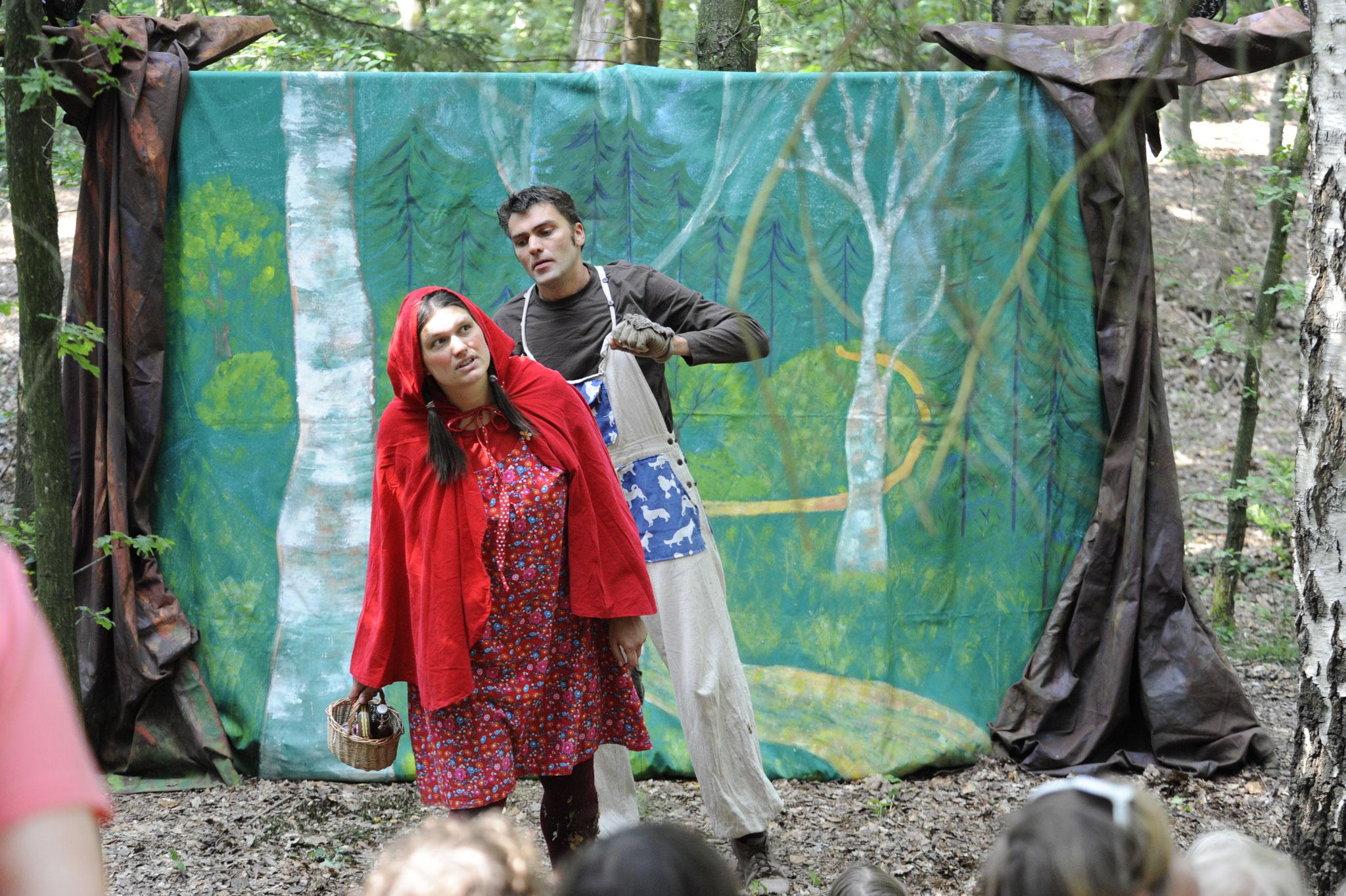 unsere Bühne mitten im Wald