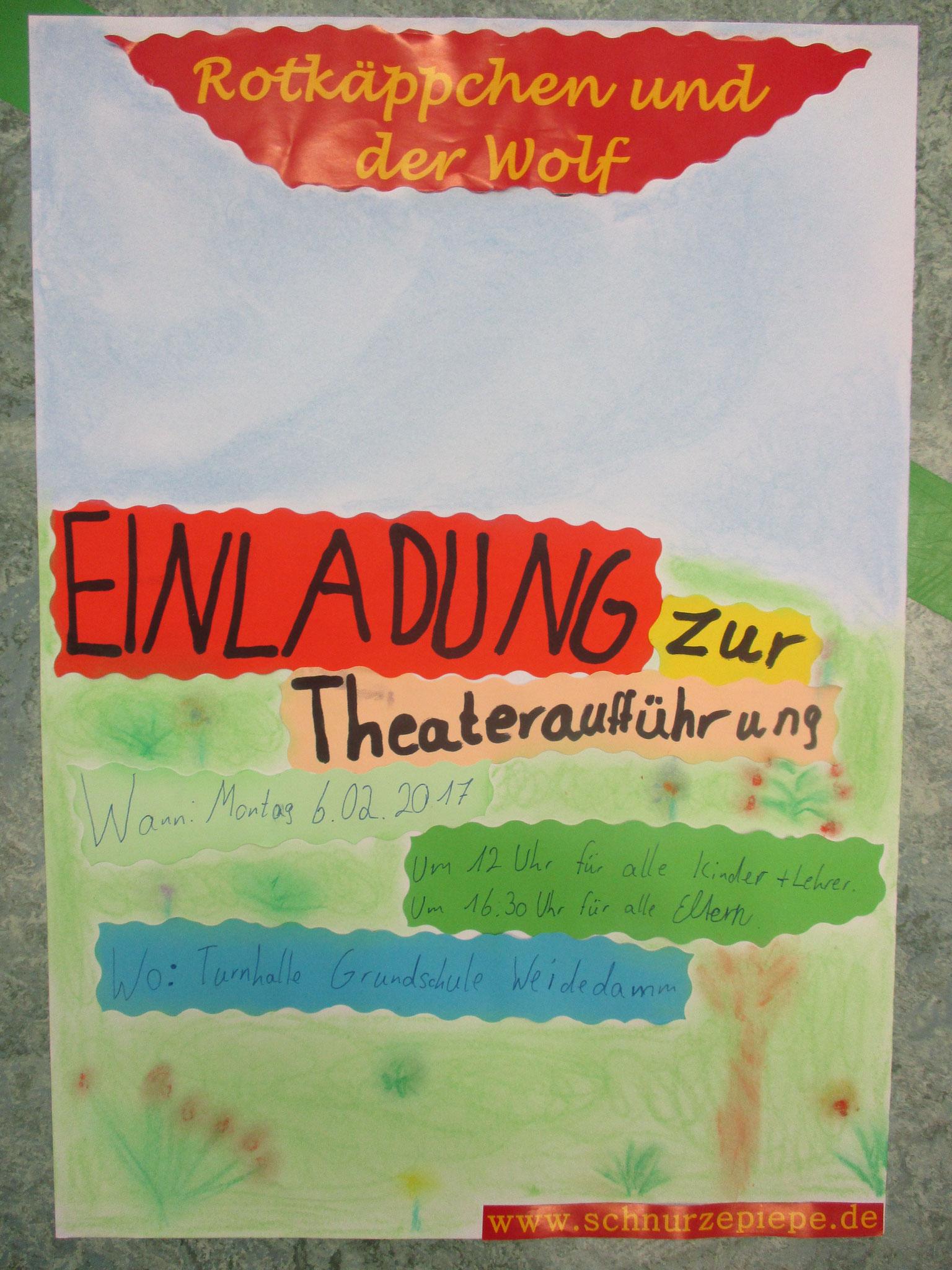 """Einladung der Schüler der """"Weidedamm Grundschule"""""""