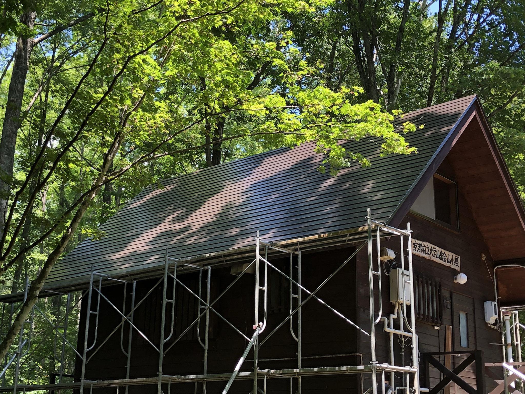 2018年7月 山小屋の屋根葺き替え工事