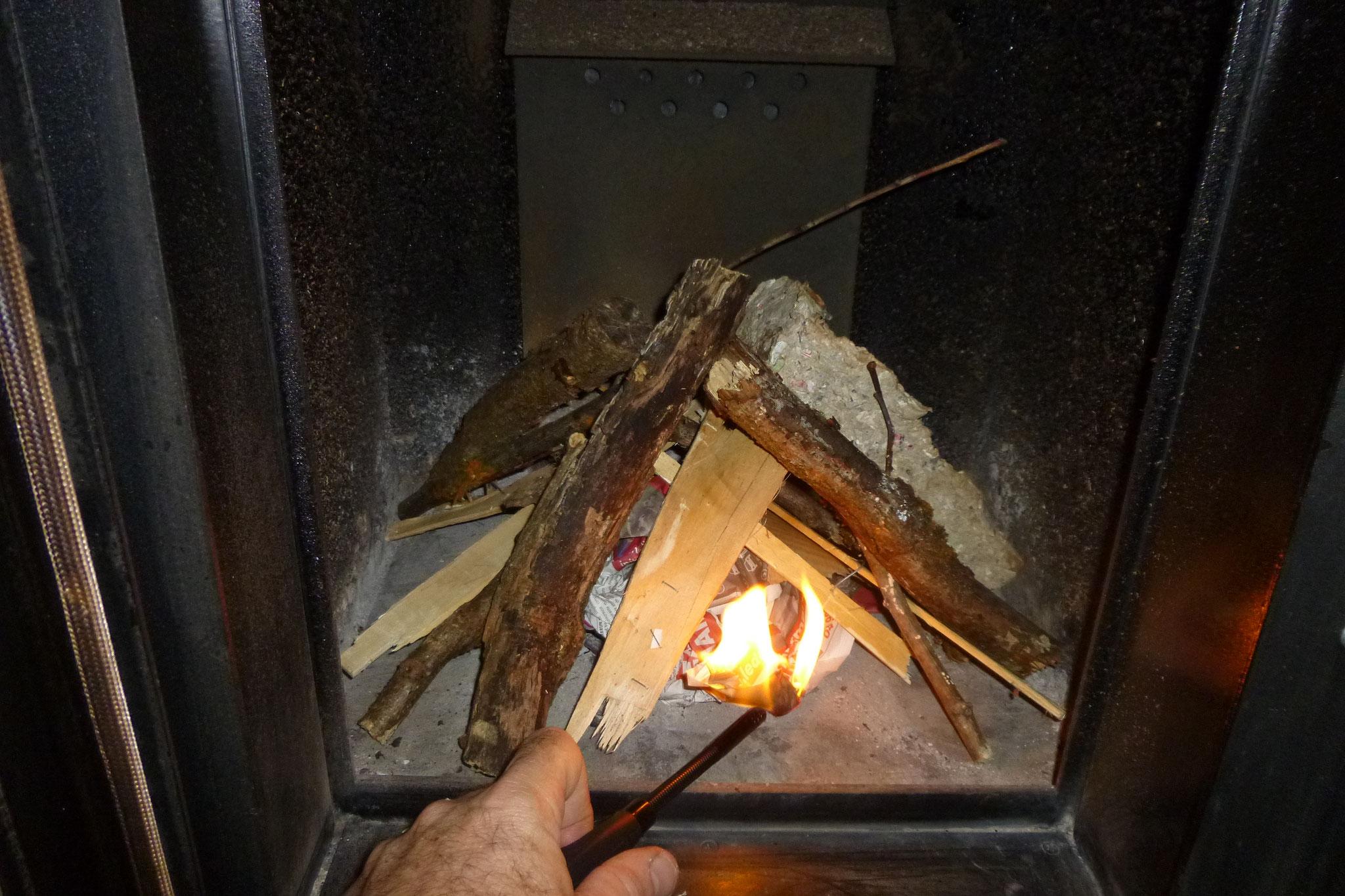 Allumage du poêle bouilleur