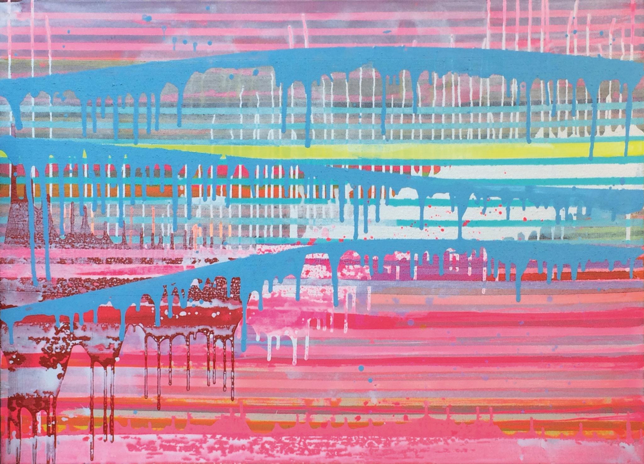 Stripes XIX   140x100cm 2014 Pigmente / Binder auf Leinwand