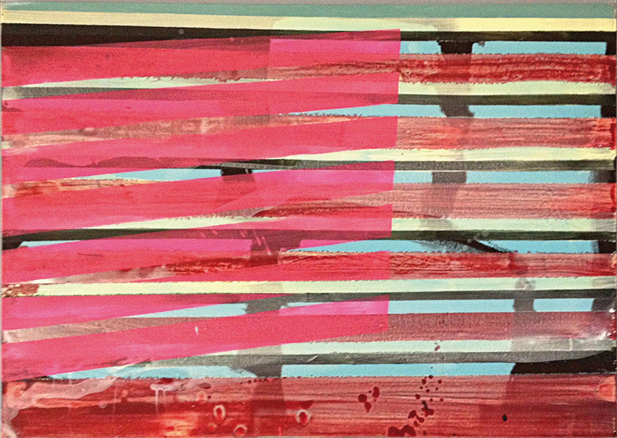 Stripes VII   140x100cm 2014 Pigmente / Binder auf Leinwand