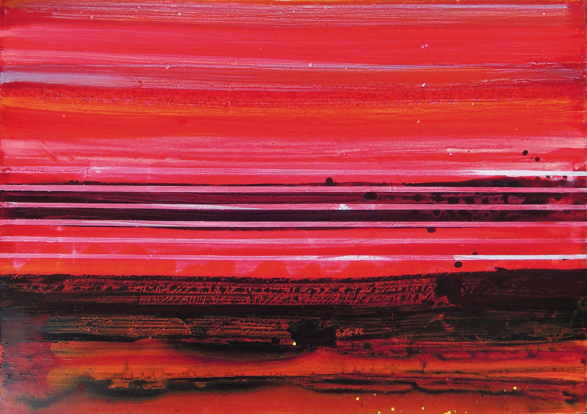 Stripes V   140x100cm 2014 Pigmente / Binder auf Leinwand