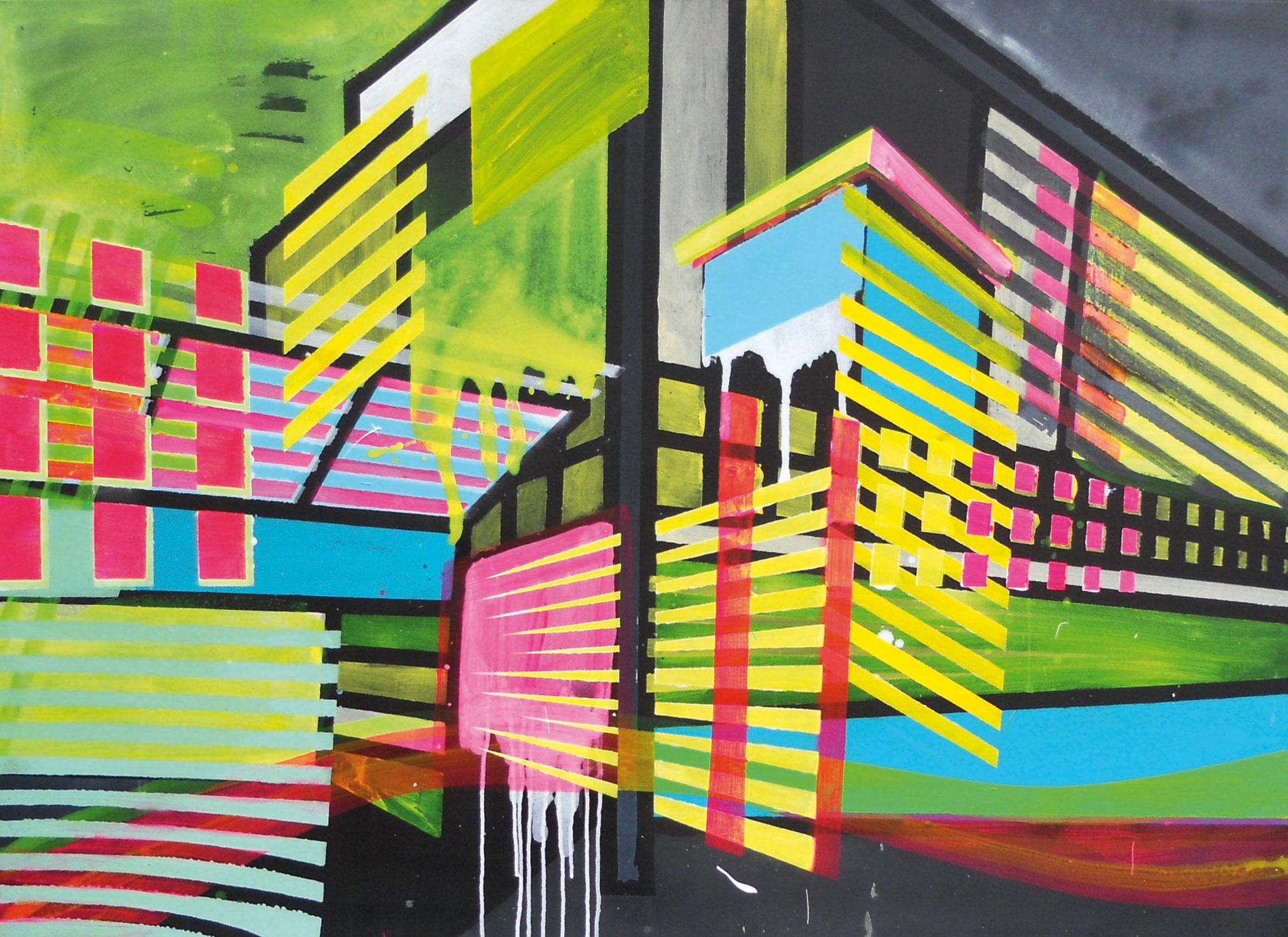 Light&Brigth 11 100x140 cm  2018 Pigmente/Binder auf Leinwand